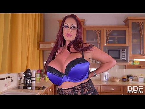 Busty Housewife Emma Butt Fucks Herself Good In The Kitchen