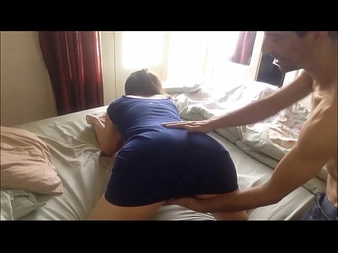 T&A 151 - Clothed Slut in Blue Cotton Dress and Satin Black Thong