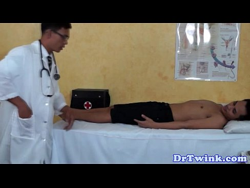 Twink doctors anal exam for gay patient