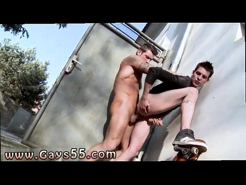 Two guys anal fucking outdoors