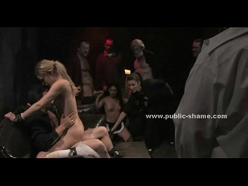 Petite whore is gagged and collared while forced to do excercises for a publicXXX Sex Videos 3gp