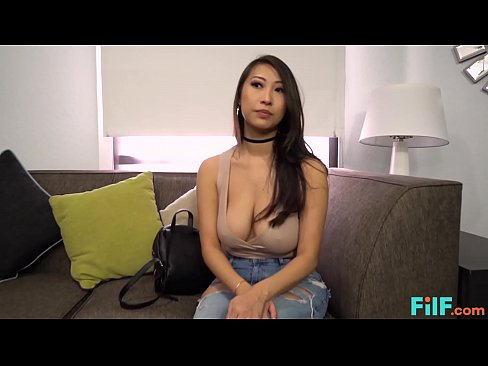 FILF - French Japanese Babe Blows And Fucks Her Roommate