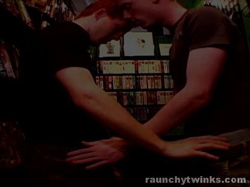 Horny Gays Can't Stop Fucking At A Video Store