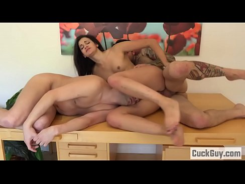 Eden Sinclair Forces Her Husband To Clean Up The Load