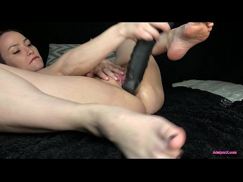 AdalynnX - Huge Dildo Deep Belly Bulge 2