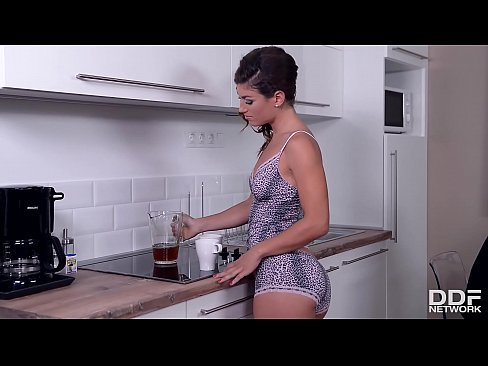 Super horny Latina Julia Roca gets her face fucked balls deep on the table
