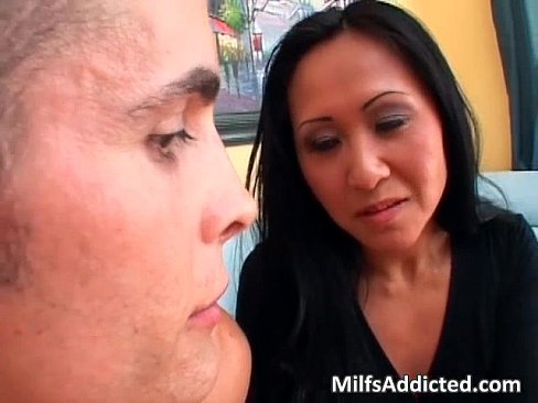 Sexyy Asian milf fucks rough with big dick