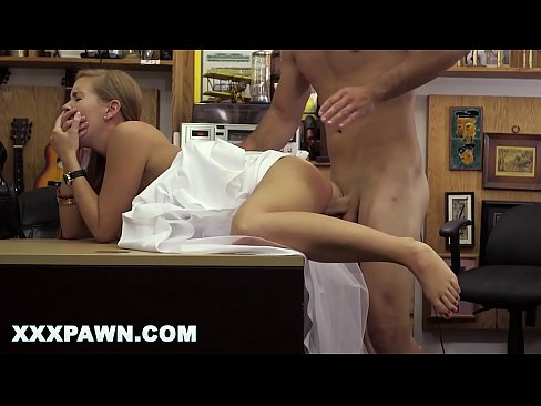 XXX PAWN  - Power Fucking This Blonde Bride In The Back Of My Store