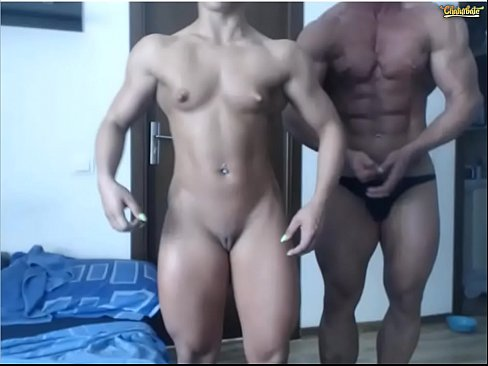 cover video gorgeous cou ple of bodybuilders on web cam no sex no sound