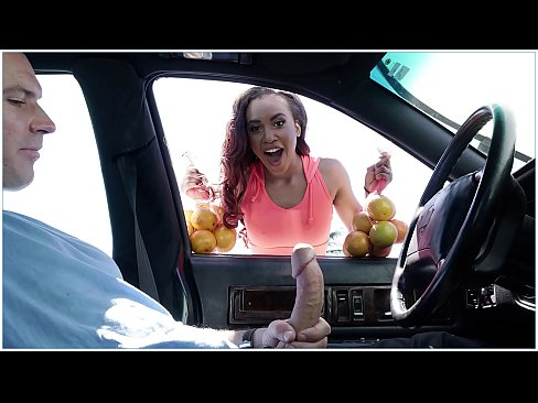 BANGBROS - Sean Lawless Buys Oranges From Sexy Black Street Vendor Demi Sutra