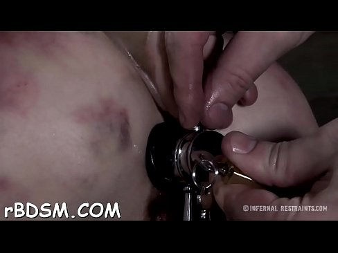 Caged up beauty is forced to give stud wild one-eyed monster ...