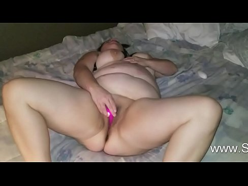 Sexy BBW Plays With Her Mini Vibe
