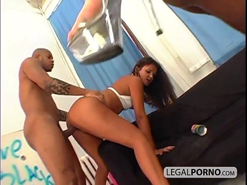 Two black cocks fucking two hot babes PP-1-03