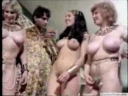Retro nude boobs blonde club