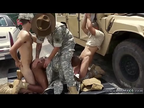 Military men cumming together and young boys by army video gay's Thumb