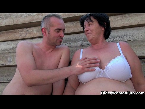 Hot mature mothers getting fucked hard outside