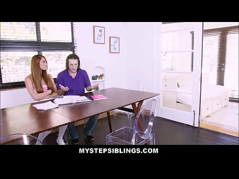 Young Horny Stepsister Nina Skye Has Sex With Stepbrother If He Does Her Homework