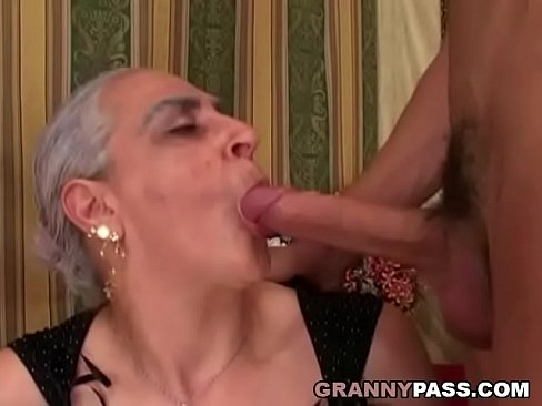 Have Grandmother sucks young cock that would