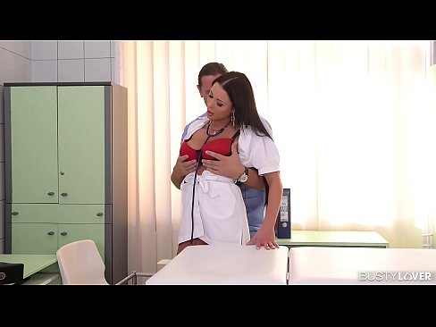 Stunning Busty Nurse Patty Michova hardcore threesome in clinic