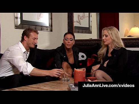 Fantasy Vixens Julia Ann & Jessica Jaymes awake in a garage, tied, gagged & fucked by a creepy pervert!