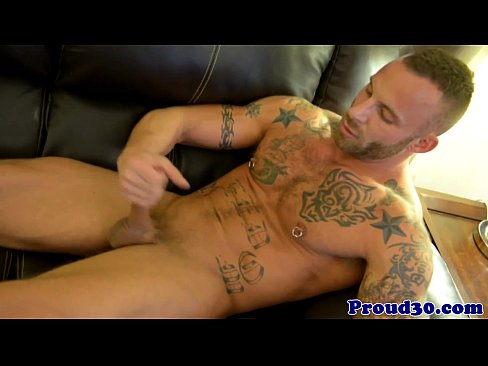 Hot looking stud parker gets his nice cock jerked