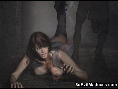 3D Babes Ruined by Creepy Monsters! XXX Sex Videos