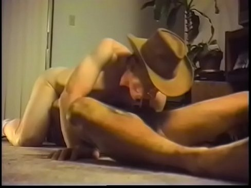 Musician who composes a piece of country music dreams about hard cowboy's pecker stretching his shithole