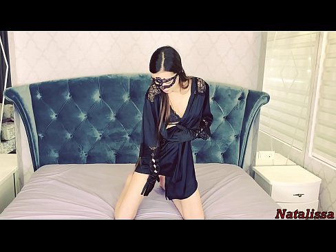 JOI - Naughty Dominant Mistress In Black Outfit Demands You To Cum - Natalissa