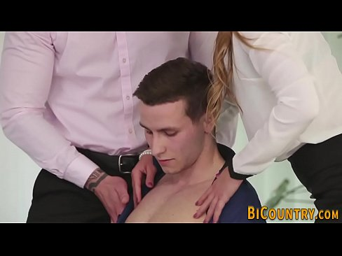 Bisexual hunk gets mouth spermed