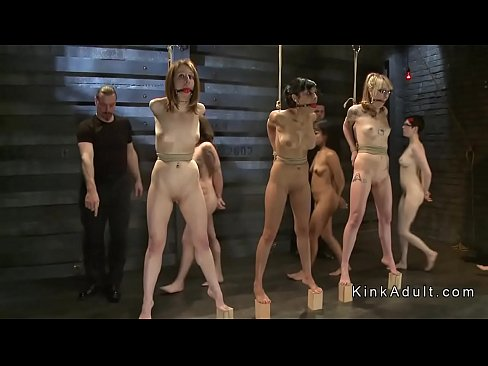 Image Bdsm contest for different slaves in dungeon