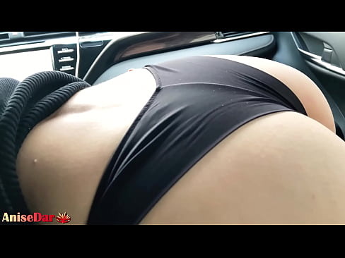 Sexy Girl Sensual Sucking Dick in Car after Work - Cum in Mouth