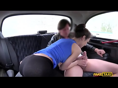 Natural Tits Porn video in a Taxi cab