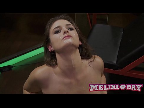 Clip sex Cute german girl gets fucked hard while being covered in cum from multiple guys (Takes 8 loads on her face!) - Dirty & Rough Bukkake Gangbang - Melina May