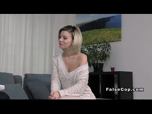 Clip sex Fake cop checking complaint at blondes
