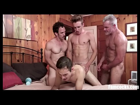 Son Gangbanged by DAD & His Friends