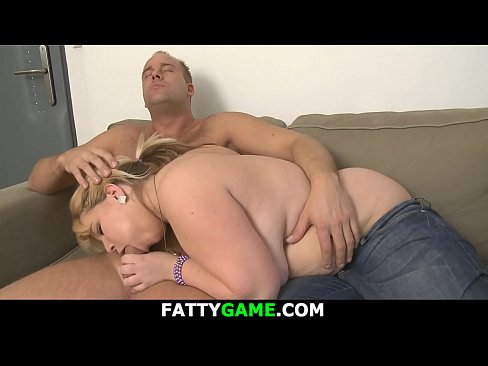 He doggy-fucks sexy big blonde plumper