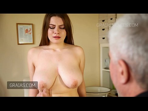 Cute girl with great natural tits slapped around