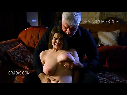 Very big tits slapped by the Master