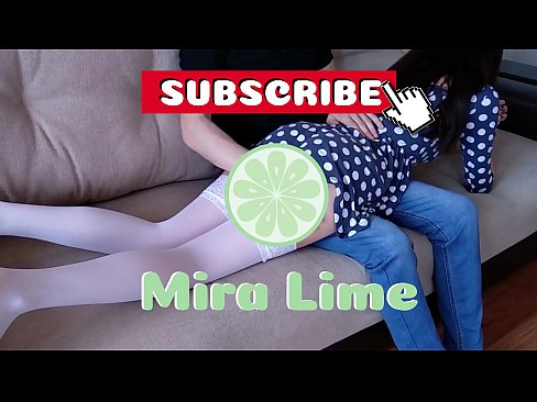 Daddy spank his submissive sweet daughter.Mira Lime