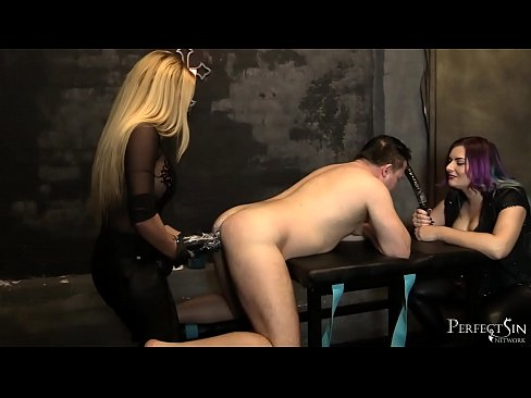 Gagged And Fucked - Monster Dildo for Ass