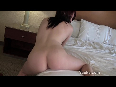 Cutie humps the bed wishing it was a cock