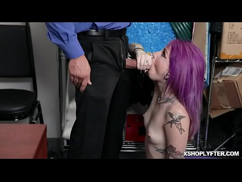 Clip sex LP Officers throbbing meat is whipped out and makes Val Steele suck him balls deep