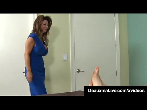 Big Titty Mommy Deauxma spreads her lovely lady legs to have a young dude's lucky throbbing dick, pound her wet pussy until he dumps his load all over her! Full Video & Deauxma Live @ DeauxmaLive.com!