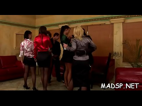 lucky lad gets fucked by a group of smoking hot girls