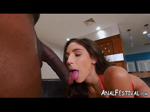 Succubus Abella Danger blows before interracial anal