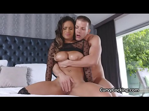 Oily big tit milks cock and gets on top to get fucked hard