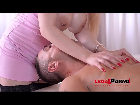 Oily Nuru massage with busty Angel Wicky leads to hardcore anal sex therapy GP678