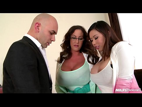 Milfs Tigerr Benson & Emma Butt Hardcore Fucked By Big Cock On Office Table