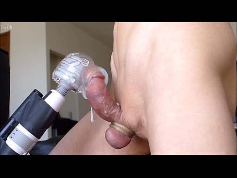 Japanese guy's shaved penis masturbation using silicon hole and electric massager! Please watch my cumshot! No.23