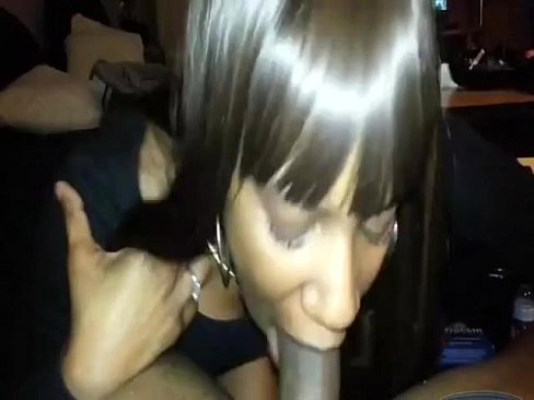 I picked up a black slut and she suck my dick very well